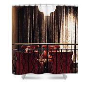 High Conversation Shower Curtain