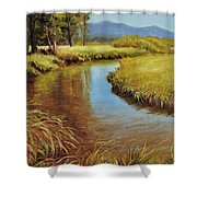 High Country Gold Shower Curtain