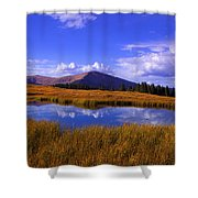 High Country Pond Shower Curtain