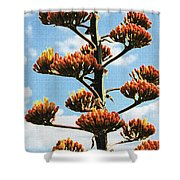 High Country Red Bud Agave Shower Curtain