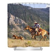 High Country Ride Shower Curtain