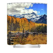 High County Ablaze Shower Curtain