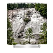 High Falls At Dupont Forest Shower Curtain