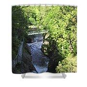 High Falls Gorge Shower Curtain