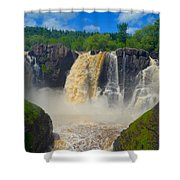 High Falls In July Shower Curtain