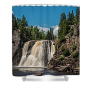 High Falls Of Tettegouche State Park 4 Shower Curtain
