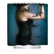 High Fashion Female Mystery Dancer Shower Curtain