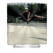 High Fly Shower Curtain by Milan Mirkovic