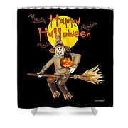 High Flying Scarecrow Shower Curtain