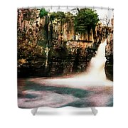 High Force With A Watercolour Effect. Shower Curtain