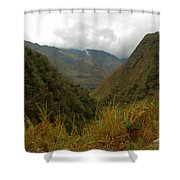 High In The Mountains Of The Intag Shower Curtain
