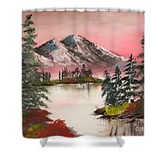 High Lakes Summer Sunset Shower Curtain