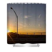 High Level Sunset  Shower Curtain