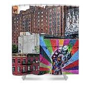 High Line Art Shower Curtain