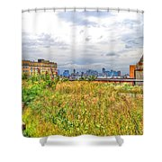 High Line On The Hudson Shower Curtain