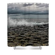 High Low Tide Shower Curtain