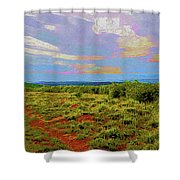 High Mesa Path Shower Curtain