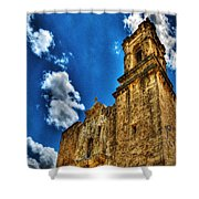 High Noon At The Bell Tower Shower Curtain