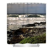 High Ocean Surf Shower Curtain