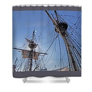 High On The Foremast Shower Curtain