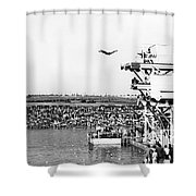 High Platform Swan Dive Shower Curtain