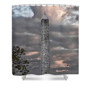 High Point Monument Sussex County New Jersey Shower Curtain