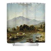 High Point  Shandaken Mountains, 1853 Shower Curtain