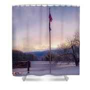 High Point State Park At Sunset Shower Curtain