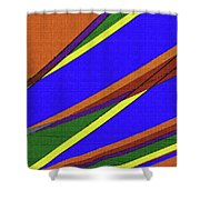 High Power Wires Abstract Color Sky Shower Curtain