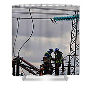 High Power Workers Shower Curtain