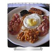 High Protein Breakfast Shower Curtain