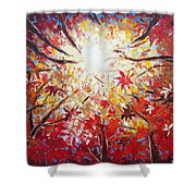 High Red Shower Curtain