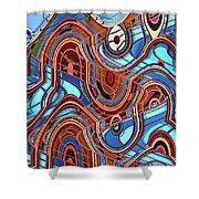 High Rise Abstract Phoenix Shower Curtain