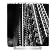 High Rise Abstract Shower Curtain