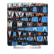 High Rise Construction Abstract # 4 Shower Curtain