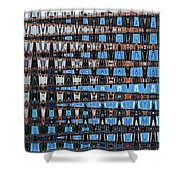 High Rise Construction Abstract Shower Curtain