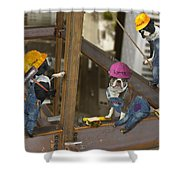 High Rise Lunch Shower Curtain