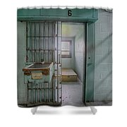 High Risk Solitary Confinement Cell In Prison Shower Curtain