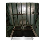High Risk Solitary Confinement Cell In Prison Through Bars Shower Curtain