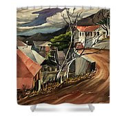 High Road At Jerome Shower Curtain