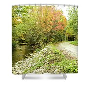 High Road Or Low Road. Shower Curtain