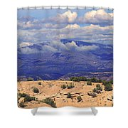 High Road To Taos Panorama Shower Curtain