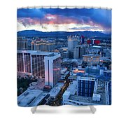High Roller Sunset Shower Curtain