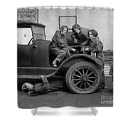 High School Mechanics 1927 Shower Curtain