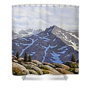 High Sierras Study Shower Curtain