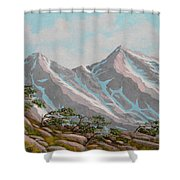 High Sierras Study IIi Shower Curtain