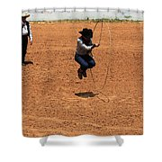 High Steppin Cowboy Shower Curtain