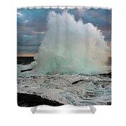 High Surf Explosion Shower Curtain