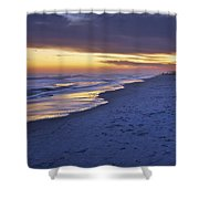 High Tide In Fading Light Shower Curtain