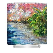 High Tide In Paradise Shower Curtain